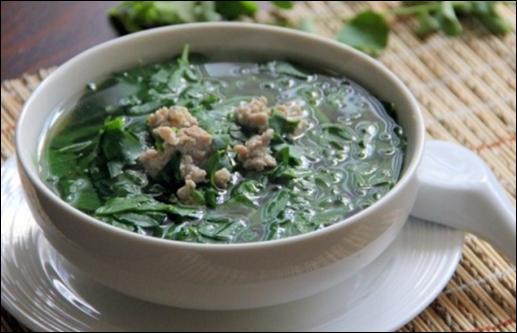 Chữa yếu sinh lý bằng rau ngót - Món canh rau ngót ngon ngọt vừa bổ dưỡng