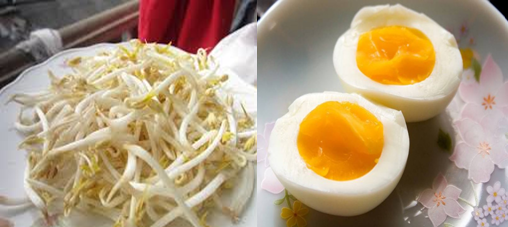 Tăng cường sinh lý hiệu quả với món trứng gà luộc và giá đỗ