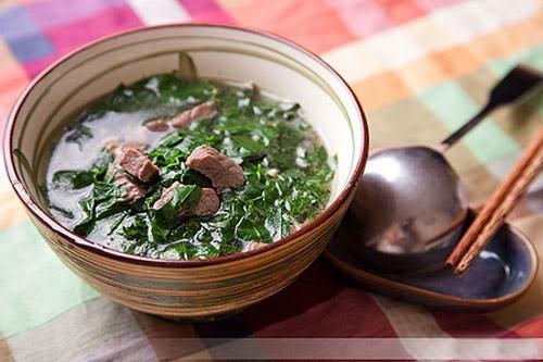 Canh rau mồng tơi nấu bầu dục lợn: Món ăn giúp nam giới bổ thận tráng dương