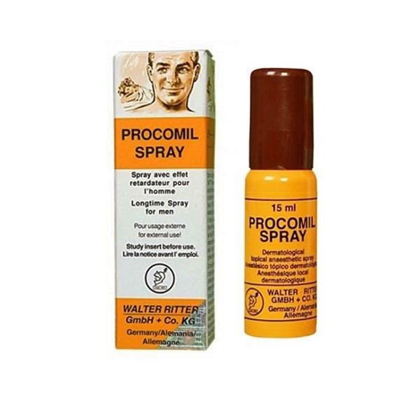thuốc xịt Procomil Spray chống xuất tinh sớm cho nam giới