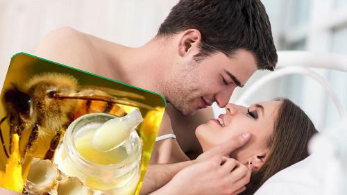 tăng cường sinh lý từ sữa ong chúa