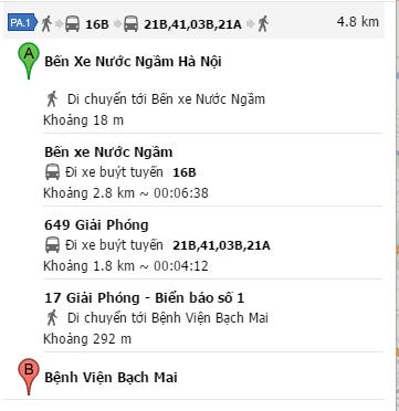 Cách đi xe bus từ bến xe Nước Ngầm đến Bệnh viện Bạch Mai
