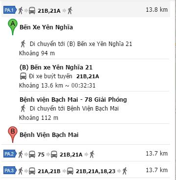 Cách đi xe bus từ bến xe Yên Nghĩa đến Bệnh viện Bạch Mai
