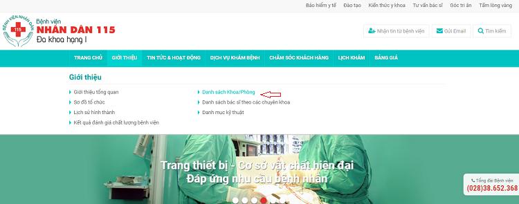 bệnh viện nhân dân 115 có khám nam khoa không