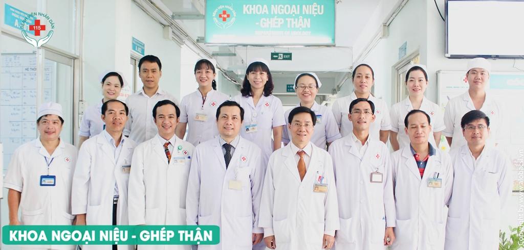 khoa ngoại niệu - ghép thận bệnh viện 115
