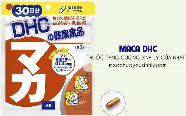 Tăng cường sinh lý bằng thuốcMaca DHC