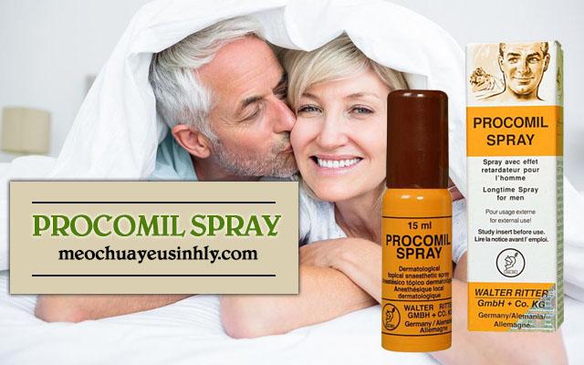 Thuốc xịt giúp quan hệ lâu ra -Procomil Spray