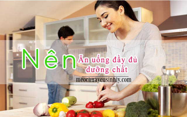 Ăn uống nhiều dưỡng chất giúp nhanh chóng có thai khi bạn bị yếu sinh lý